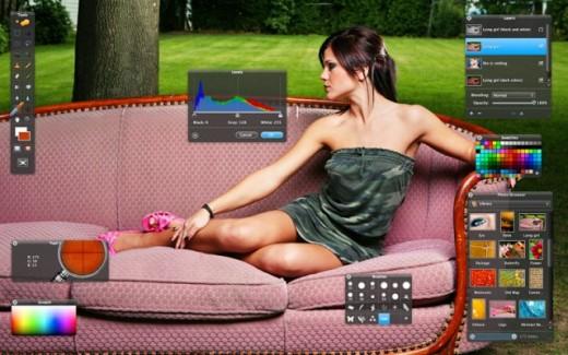 Интерфейс графического редактора Pixelmator