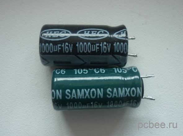 Замена конденсаторов в блоке питания монитора