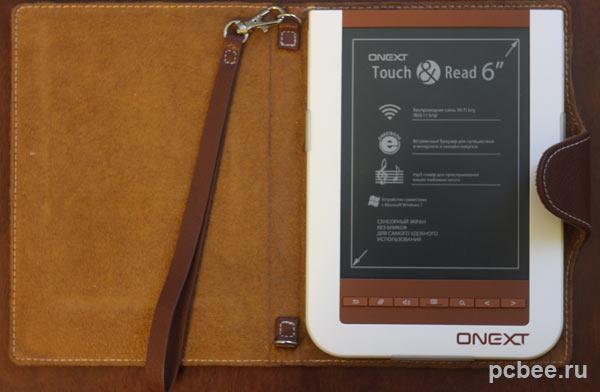 Электронная книга Оnext touch&read 001 на жидких чернилах в чехле