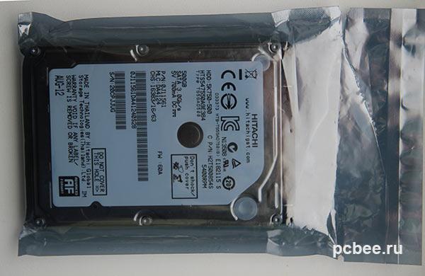 Жесткий диск Hitachi упакован только в антистатический пакет