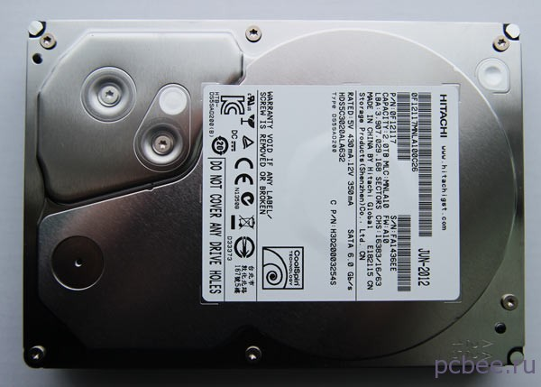 Вид HDD HITACHI Deskstar 5K3000 сверху