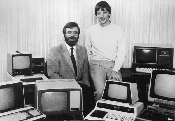Пол Аллен (слева) и  Билл Гейтс