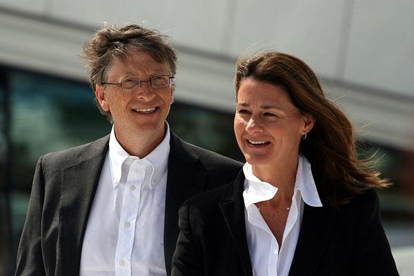 Билл Гейтс и его жена Мелинде Френ