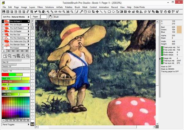 Программа для рисования на компьютере TwistedBrush