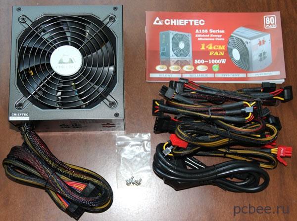 Компьютерный блок питания Chiftec на 650 Вт с кабель-менеджером