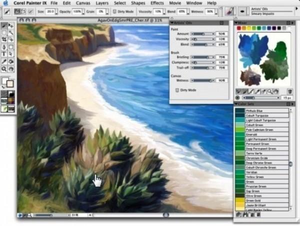 Программа для рисования на компьютере Corel Painter