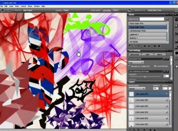 Программа для рисования на компьютере Livebrush