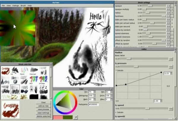 Программа для рисования на компьютере MyPaint