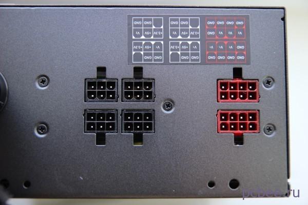 Разъёмы на корпусе для подключения съемных кабелей