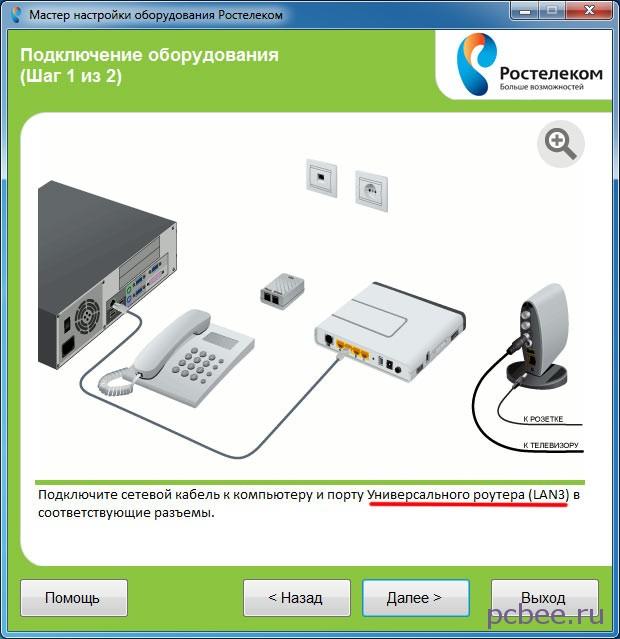 Черным по белому написано, что сетевой кабель следует подключать к порту LAN3
