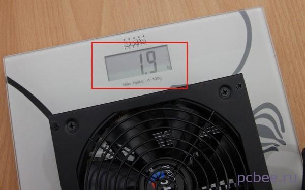 ВесAeroCool Retail KCAS-1000W менее 2 кг, что вряд ли может впечатлить учитывая заявленную мощность