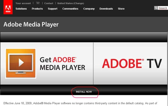 Скачать проигрыватель Adobe Media Player бесплатно