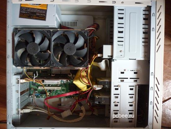 Мощная система охлаждения процессора Cooler master gemin II