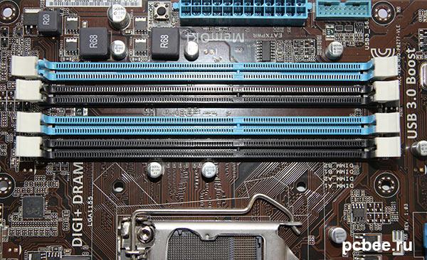 Слоты для модулей памяти DDD3