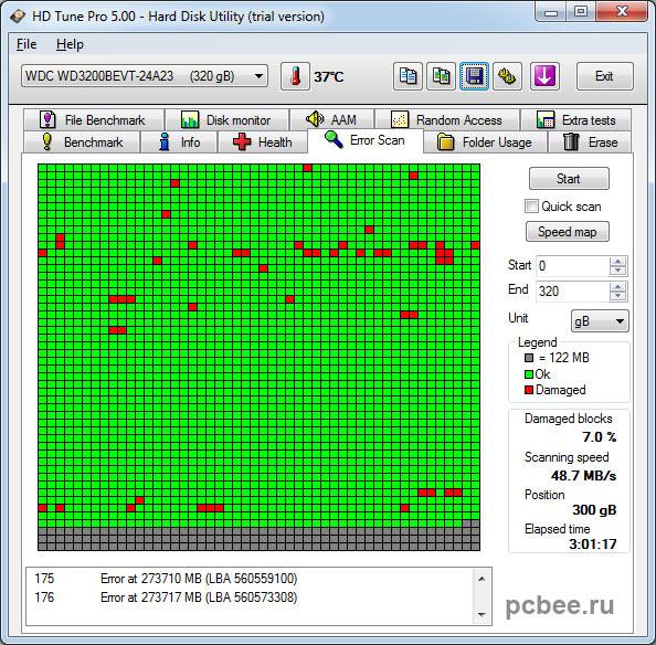 Сбойные секторы на жестком диске HDD