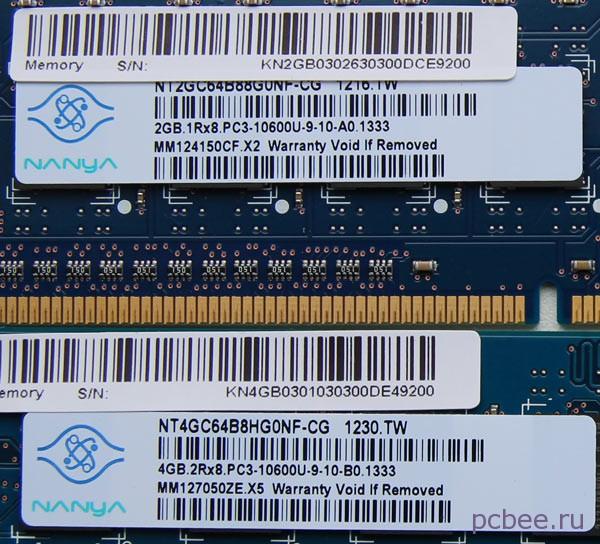Маркировка модулей памяти Acer Aspire M3985
