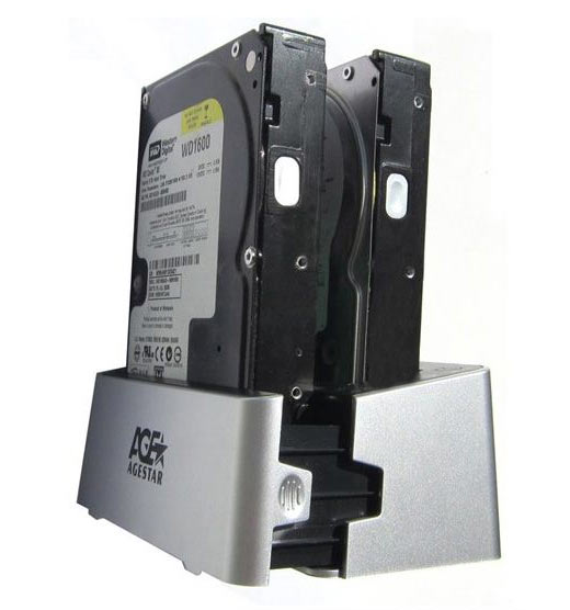 Док-станция AgeStar 3UBT3 для двух HDD