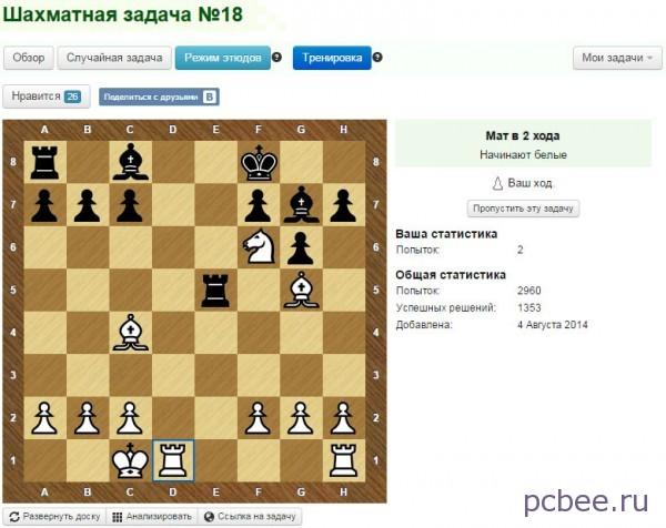 Белый начинают и выигрывают - шахматные задачи в 2 хода