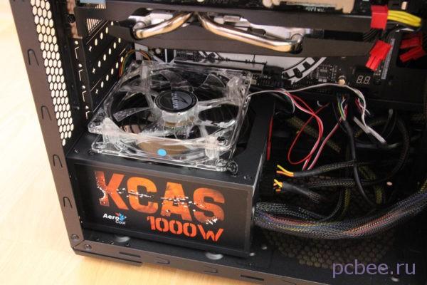 Блок питания AeroCool KCAS-1000W с дополнительным вентилятором