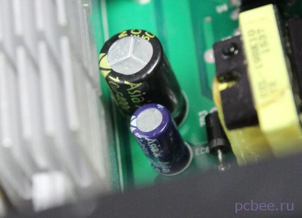 Во вторичных цепях также установлены конденсаторы Asia'X