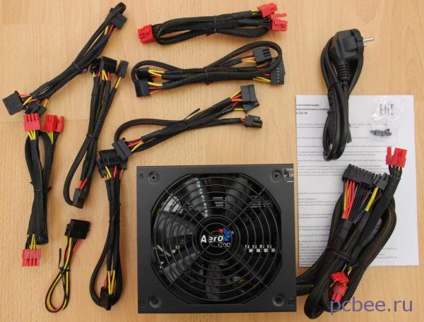Комплектация блока питания для компьютера AeroCool Retail KCAS-1000W